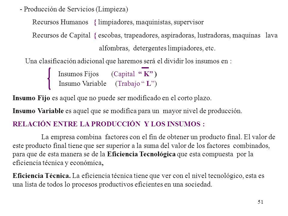 - Producción de Servicios (Limpieza)