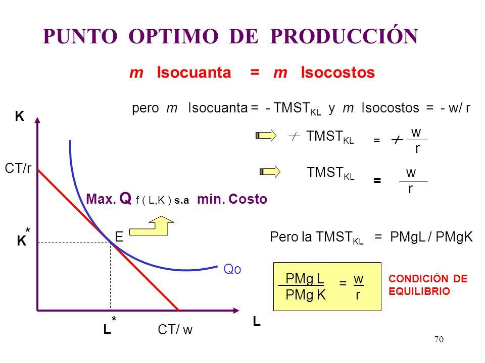 PUNTO OPTIMO DE PRODUCCIÓN
