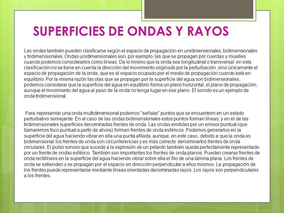 SUPERFICIES DE ONDAS Y RAYOS