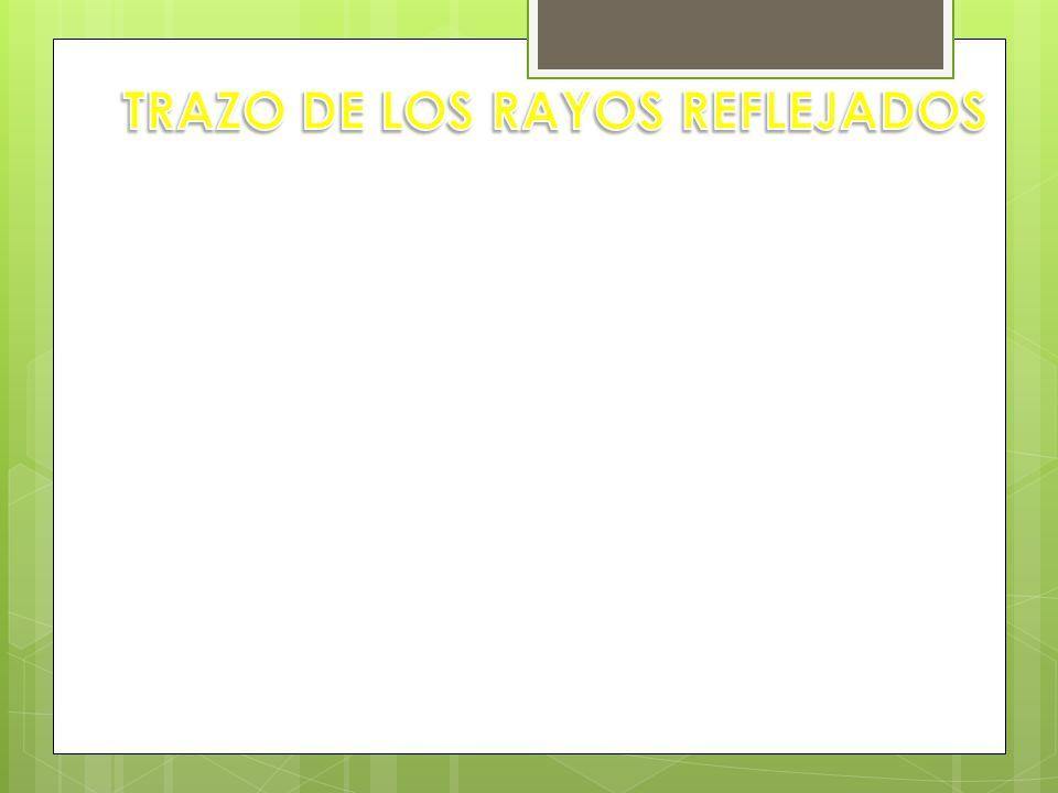 TRAZO DE LOS RAYOS REFLEJADOS