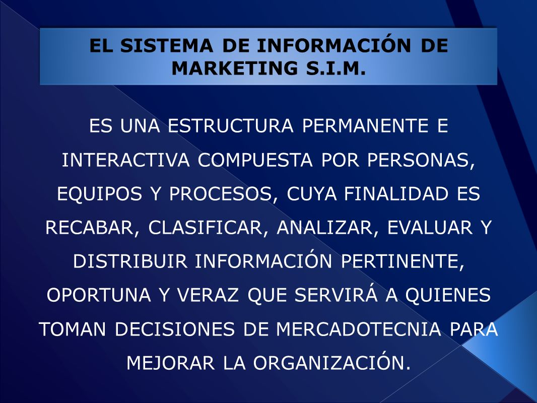 EL SISTEMA DE INFORMACIÓN DE MARKETING S.I.M.