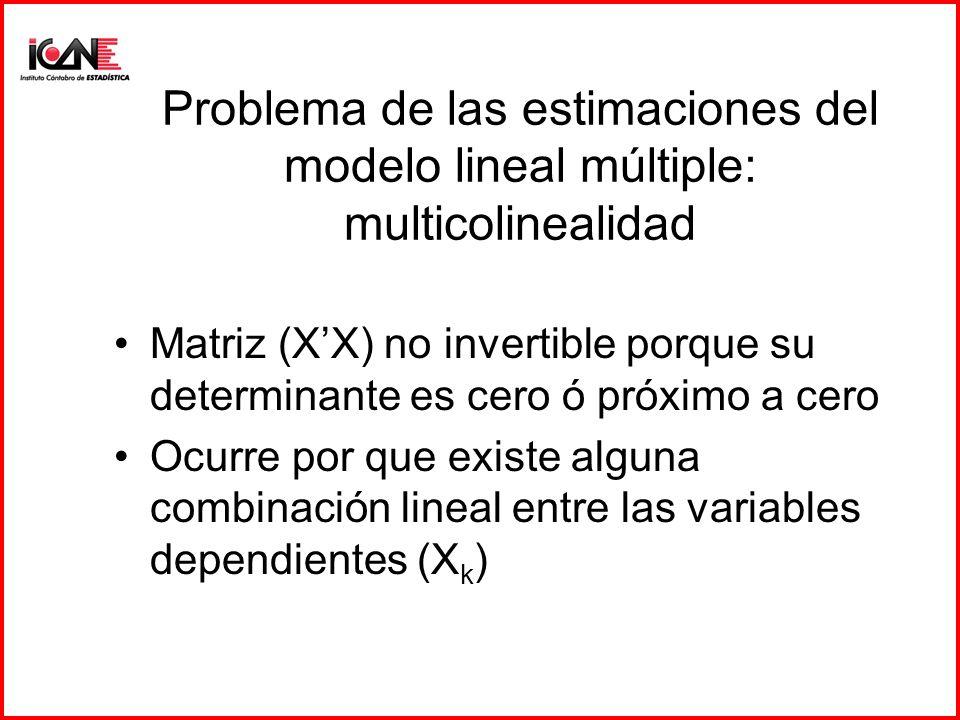 Problema de las estimaciones del modelo lineal múltiple: multicolinealidad