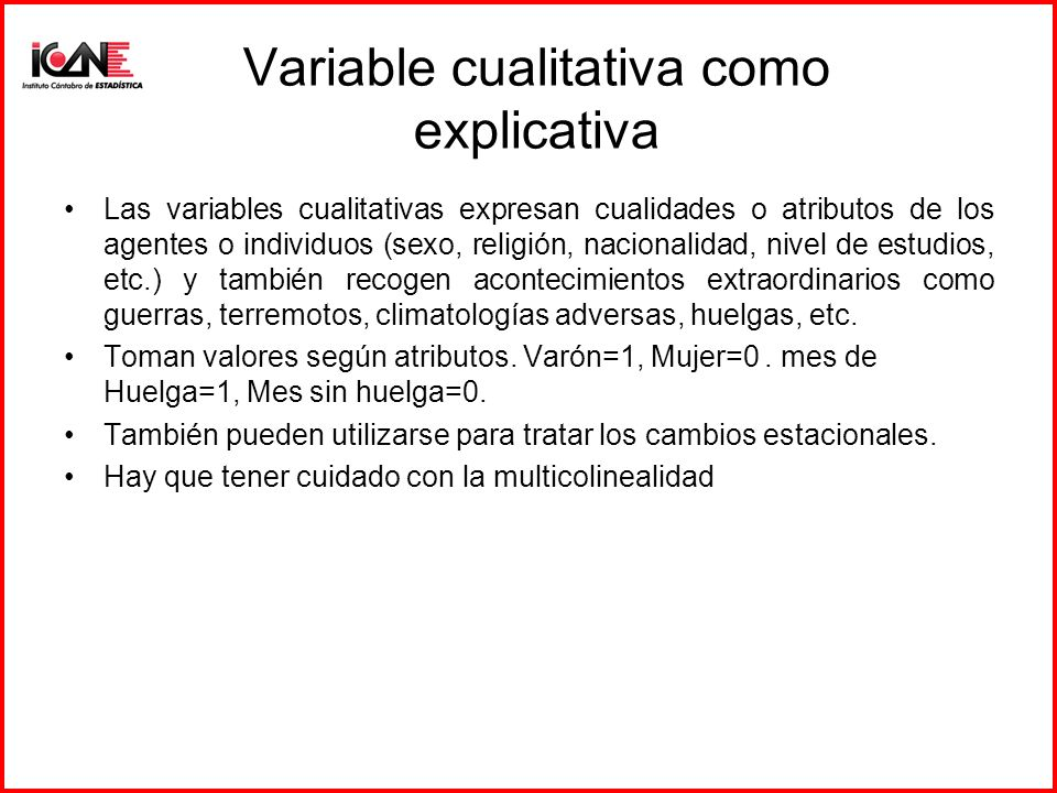 Variable cualitativa como explicativa