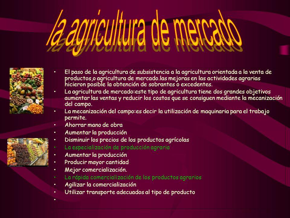 la agricultura de mercado