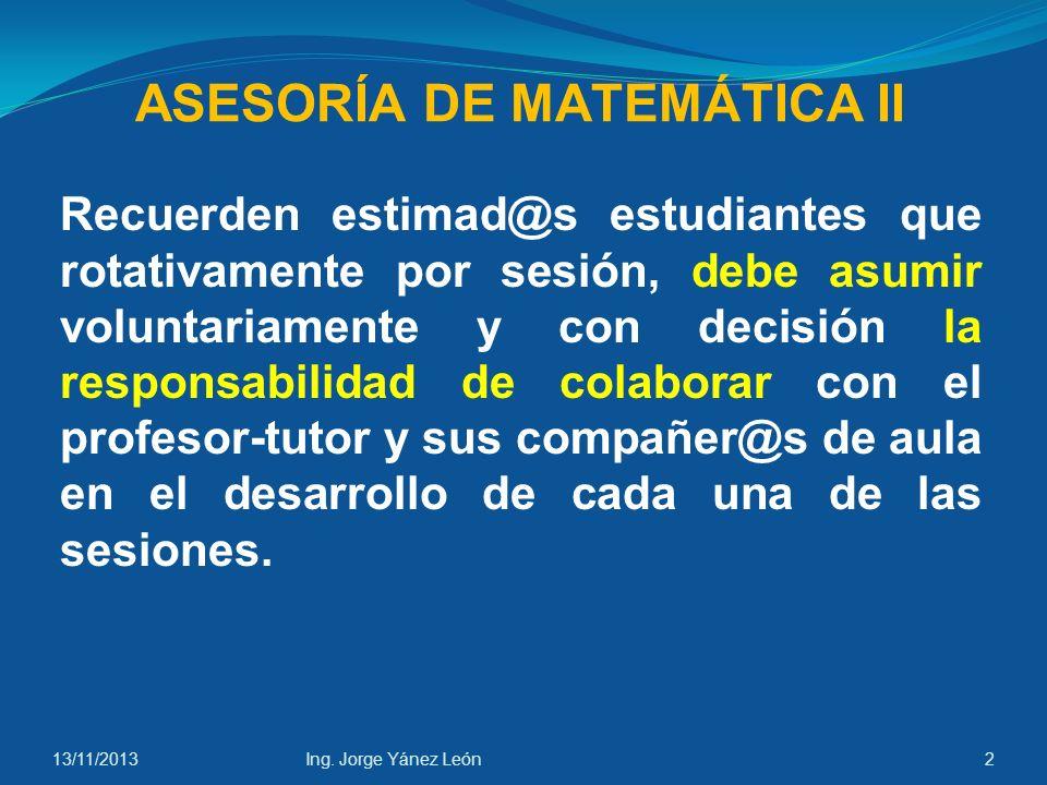 ASESORÍA DE MATEMÁTICA II