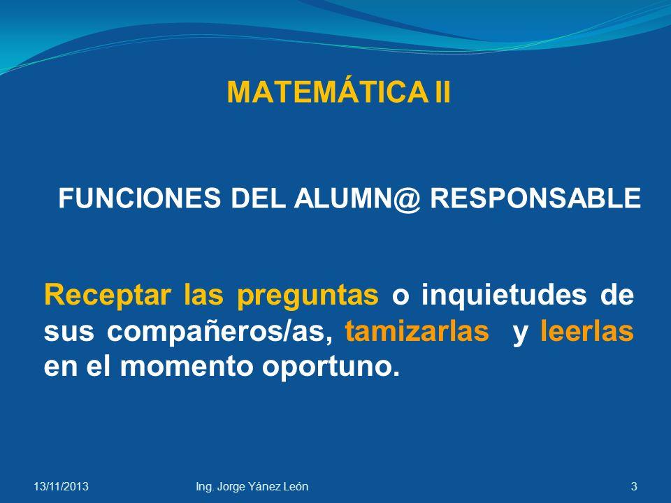FUNCIONES DEL ALUMN@ RESPONSABLE