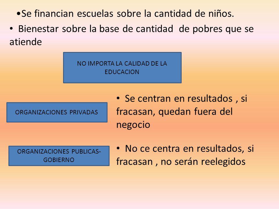 Se financian escuelas sobre la cantidad de niños.