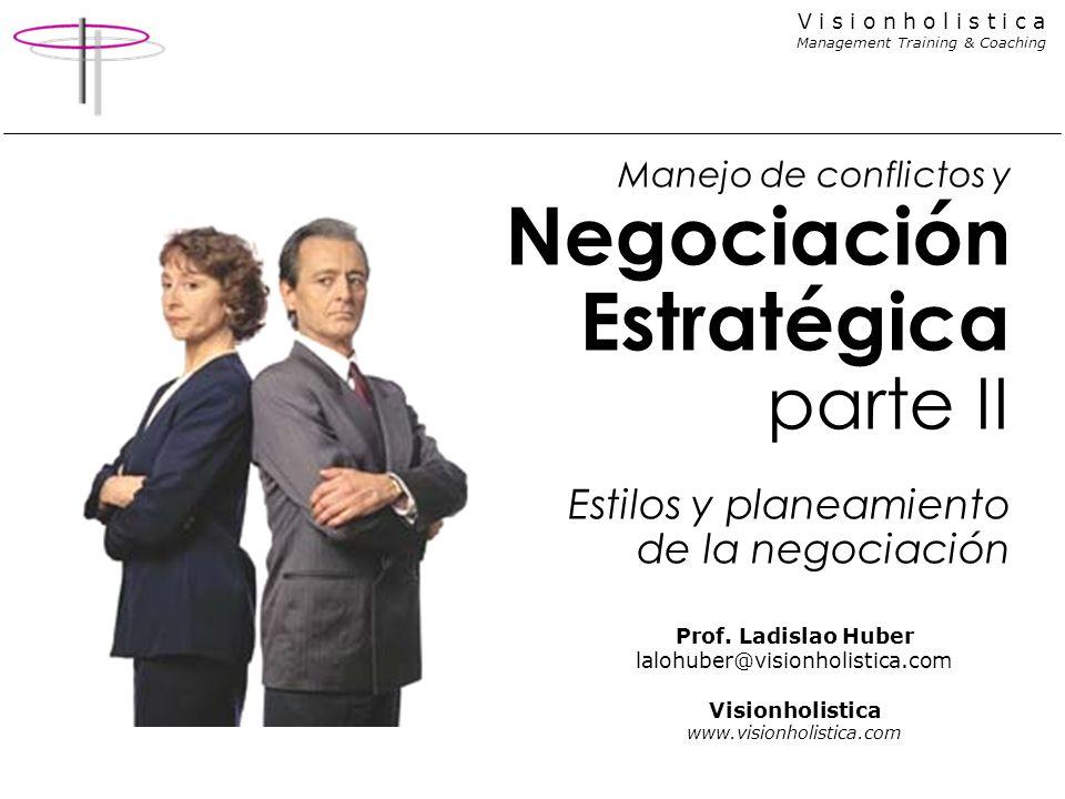 Manejo de conflictos y Negociación Estratégica parte II Estilos y planeamiento de la negociación