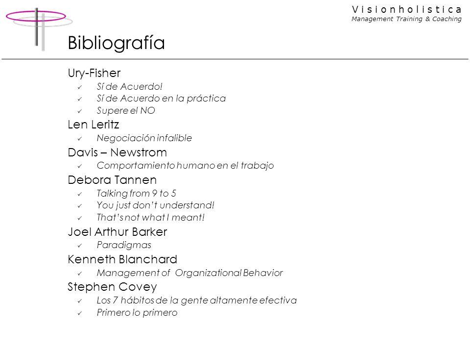 Bibliografía Ury-Fisher Len Leritz Davis – Newstrom Debora Tannen