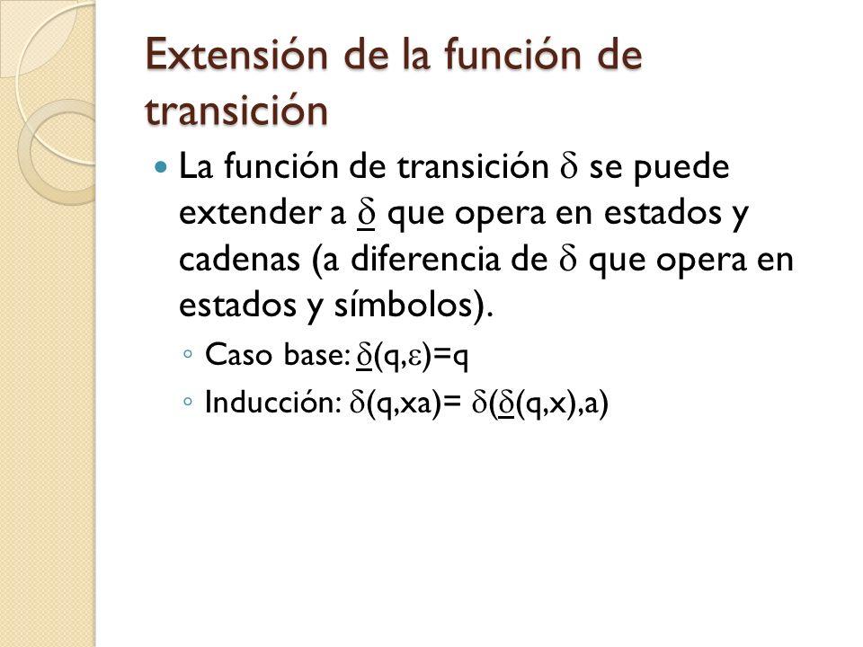 Extensión de la función de transición