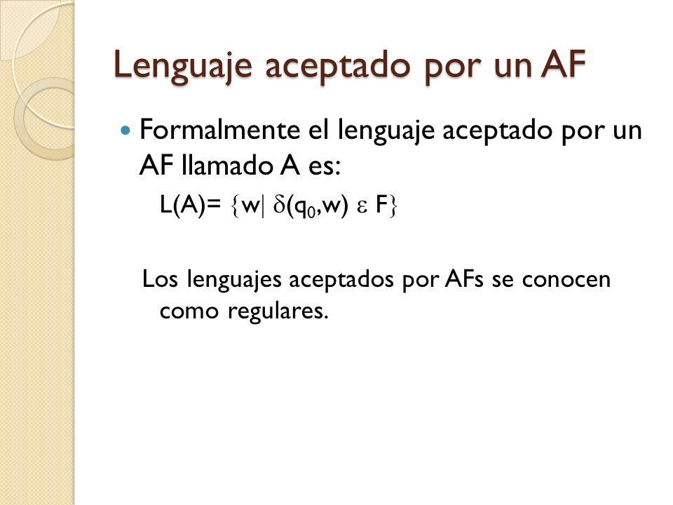 Lenguaje aceptado por un AF