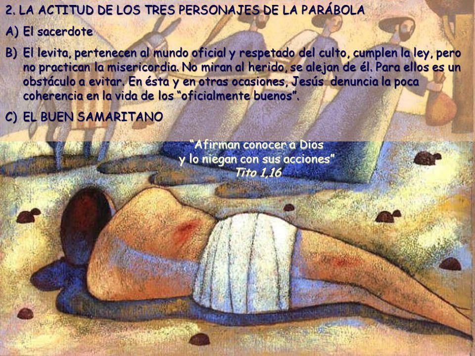 Afirman conocer a Dios y lo niegan con sus acciones Tito 1,16