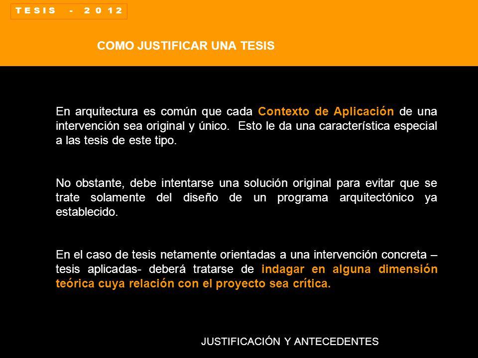 La tesis en arquitectura nociones b sicas ppt video for Tesis de arquitectura ejemplos