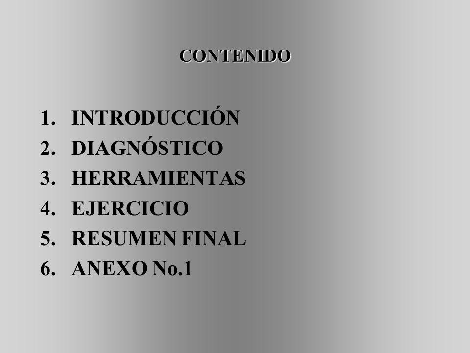INTRODUCCIÓN DIAGNÓSTICO HERRAMIENTAS EJERCICIO RESUMEN FINAL