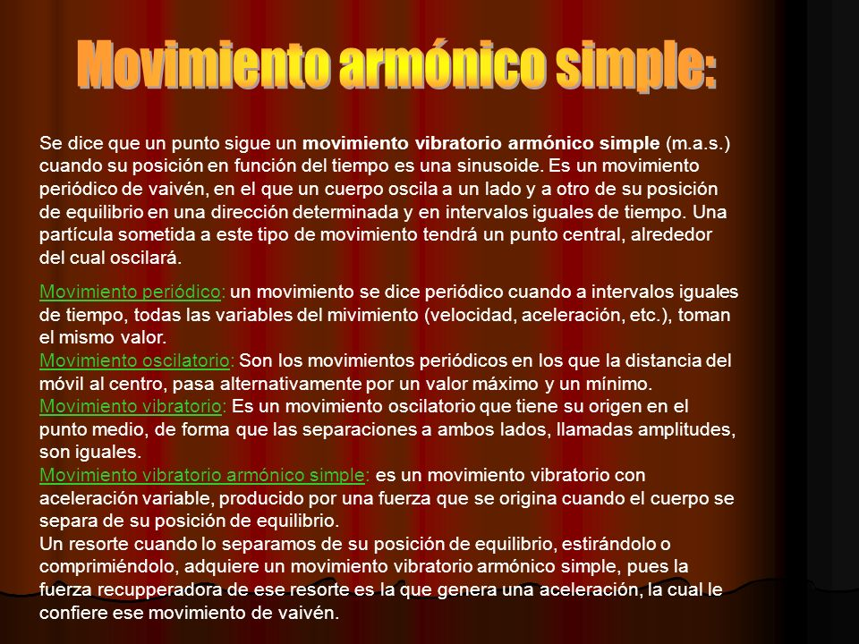 Movimiento armónico simple: