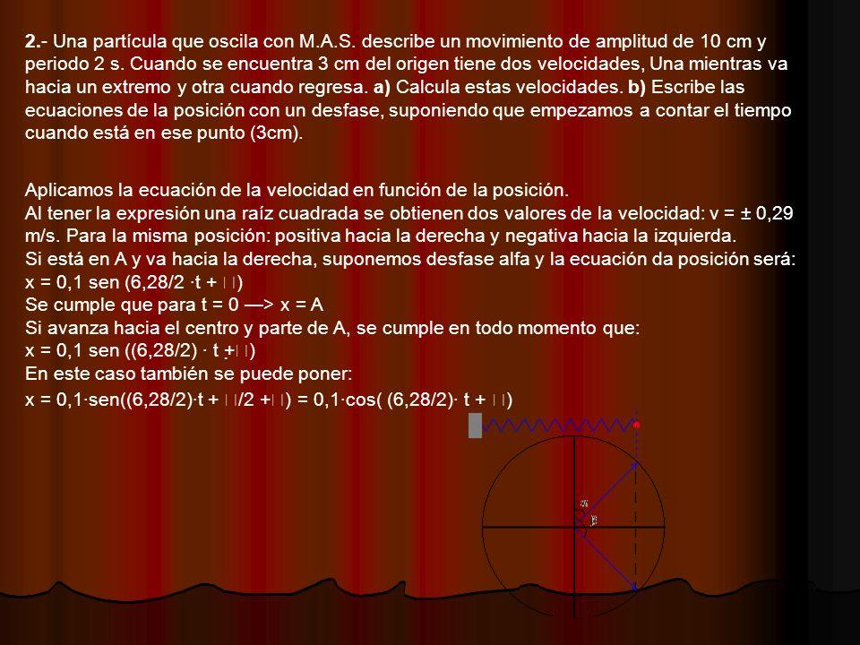 2. - Una partícula que oscila con M. A. S