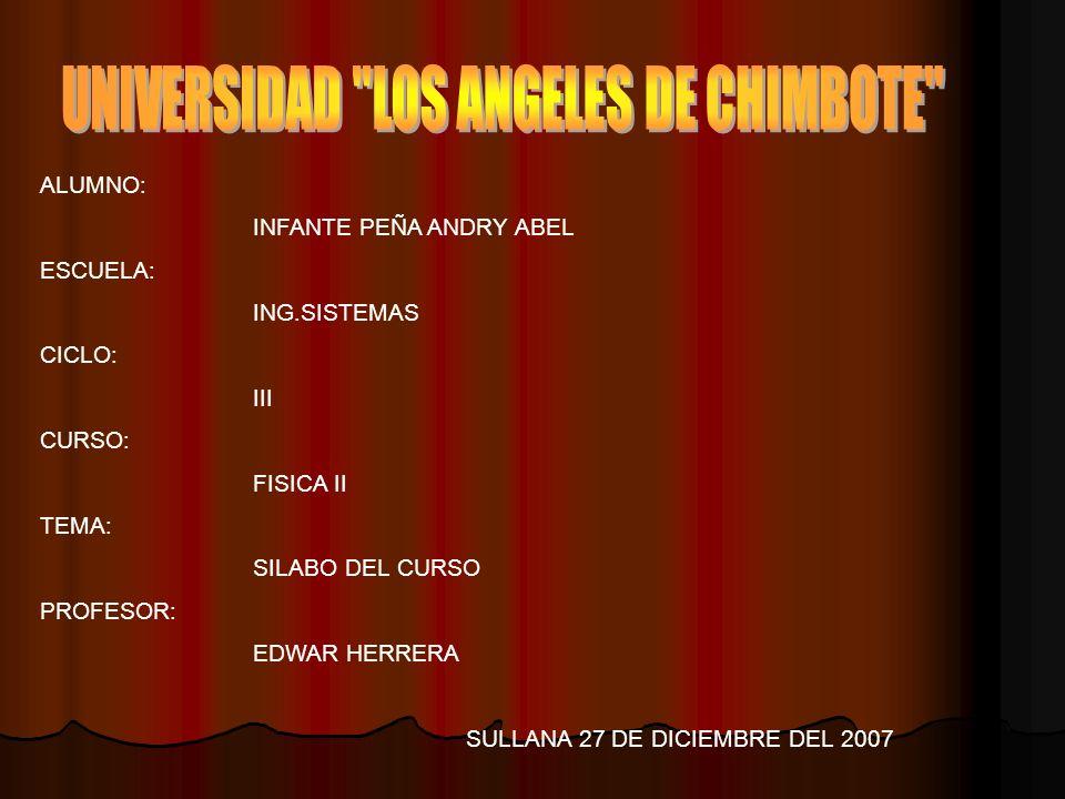 UNIVERSIDAD LOS ANGELES DE CHIMBOTE