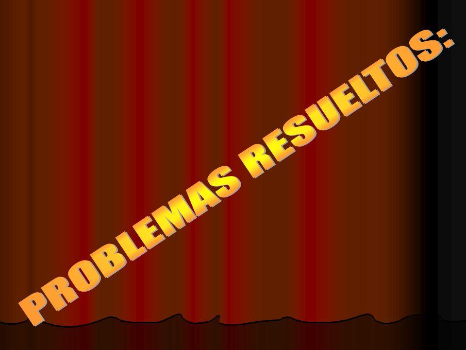 PROBLEMAS RESUELTOS: