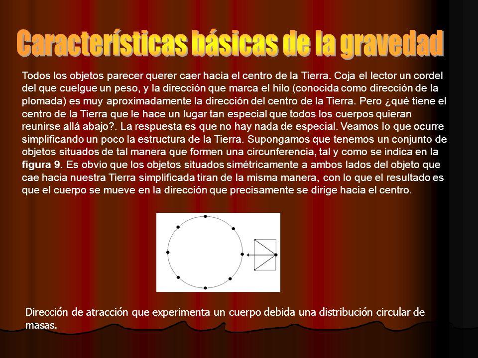 Características básicas de la gravedad