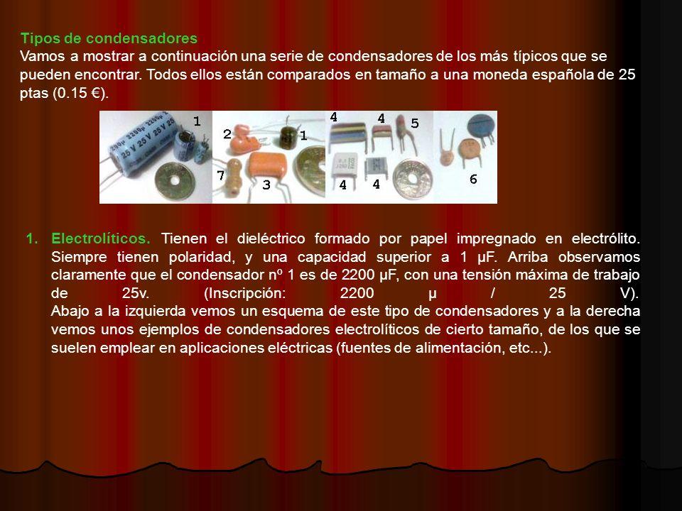 Tipos de condensadores