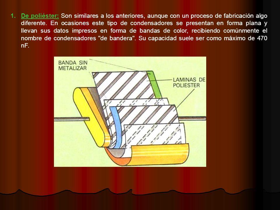 De poliéster: Son similares a los anteriores, aunque con un proceso de fabricación algo diferente.