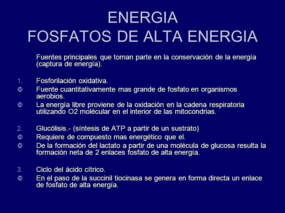 ENERGIA FOSFATOS DE ALTA ENERGIA