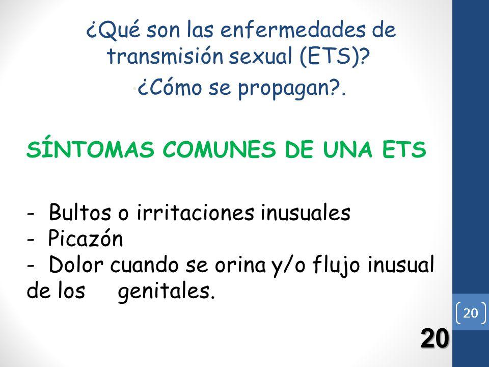 ¿Qué son las enfermedades de transmisión sexual (ETS)