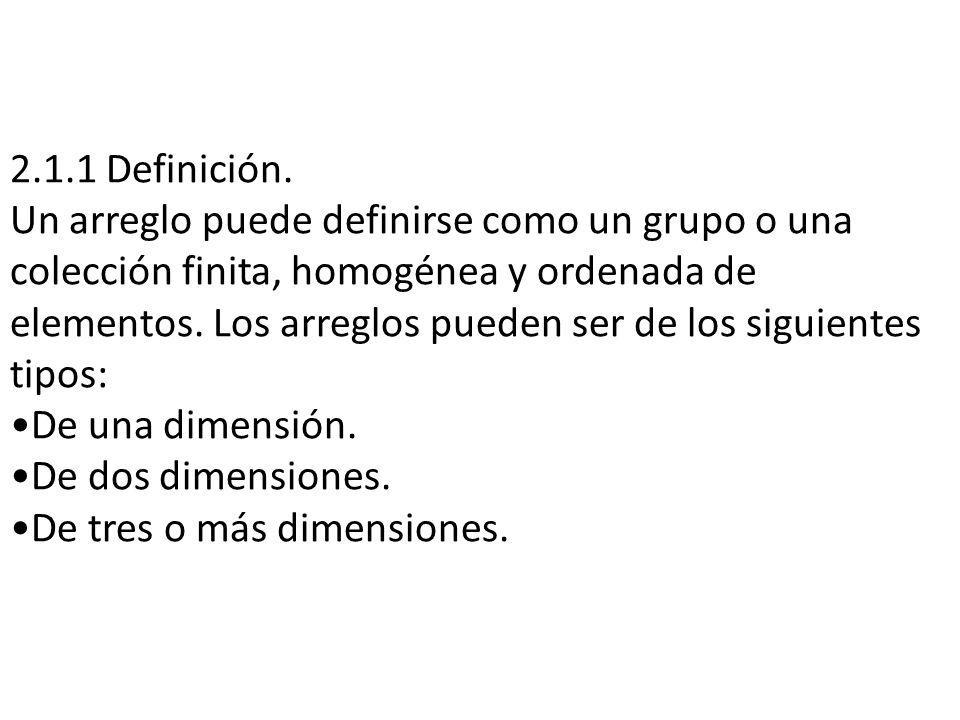 2.1.1 Definición.