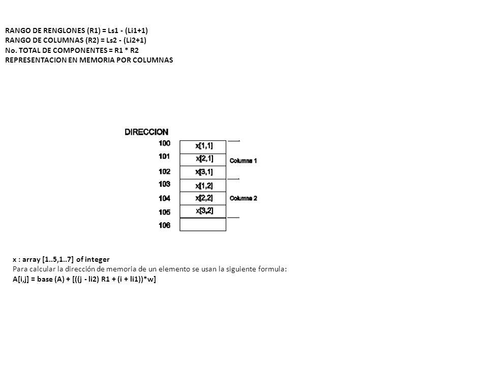 RANGO DE RENGLONES (R1) = Ls1 - (Li1+1)