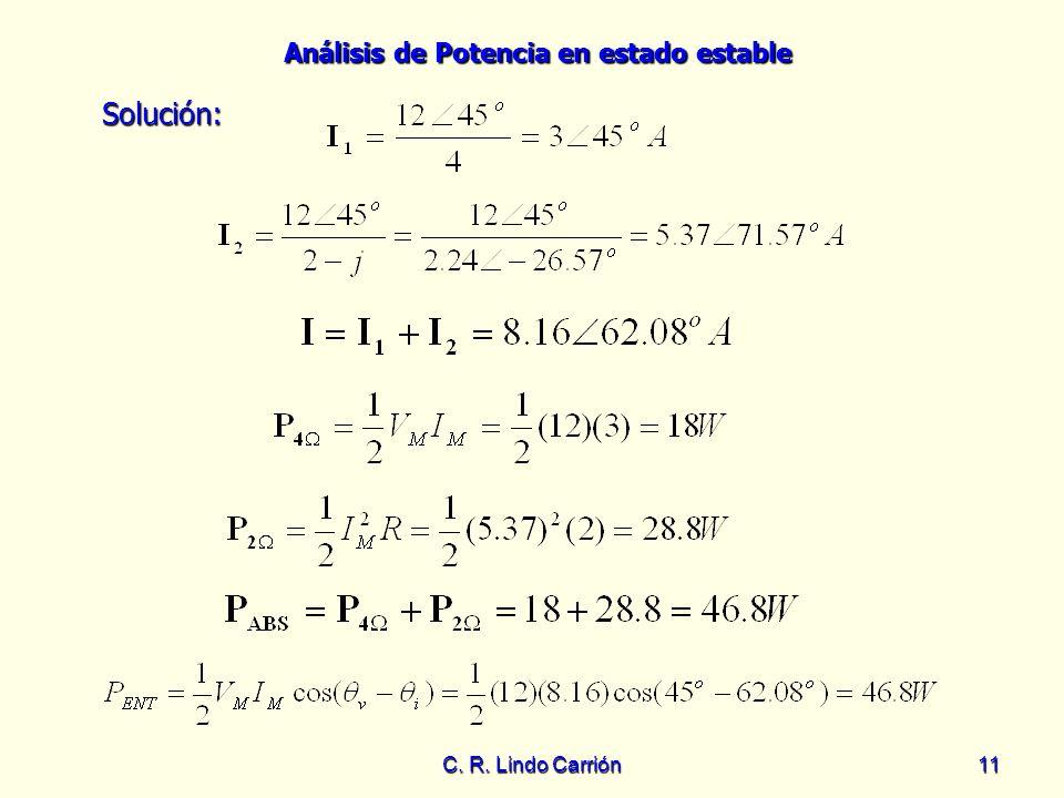 Solución: C. R. Lindo Carrión