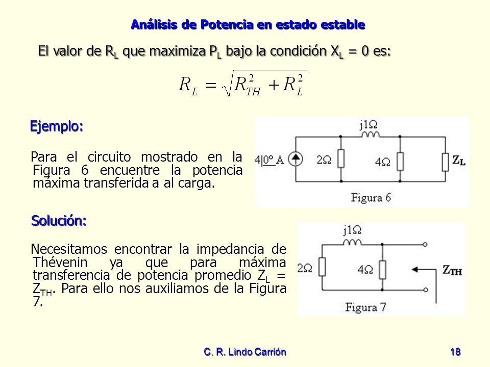 El valor de RL que maximiza PL bajo la condición XL = 0 es: