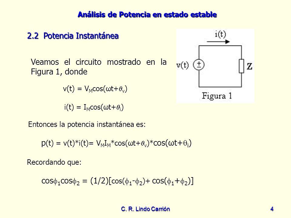 Veamos el circuito mostrado en la Figura 1, donde