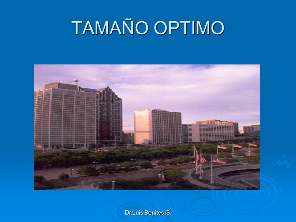 TAMAÑO OPTIMO Dr.Luis Benites G.