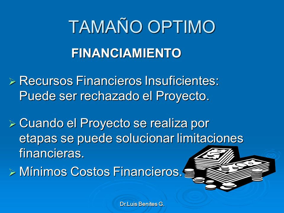 TAMAÑO OPTIMO FINANCIAMIENTO