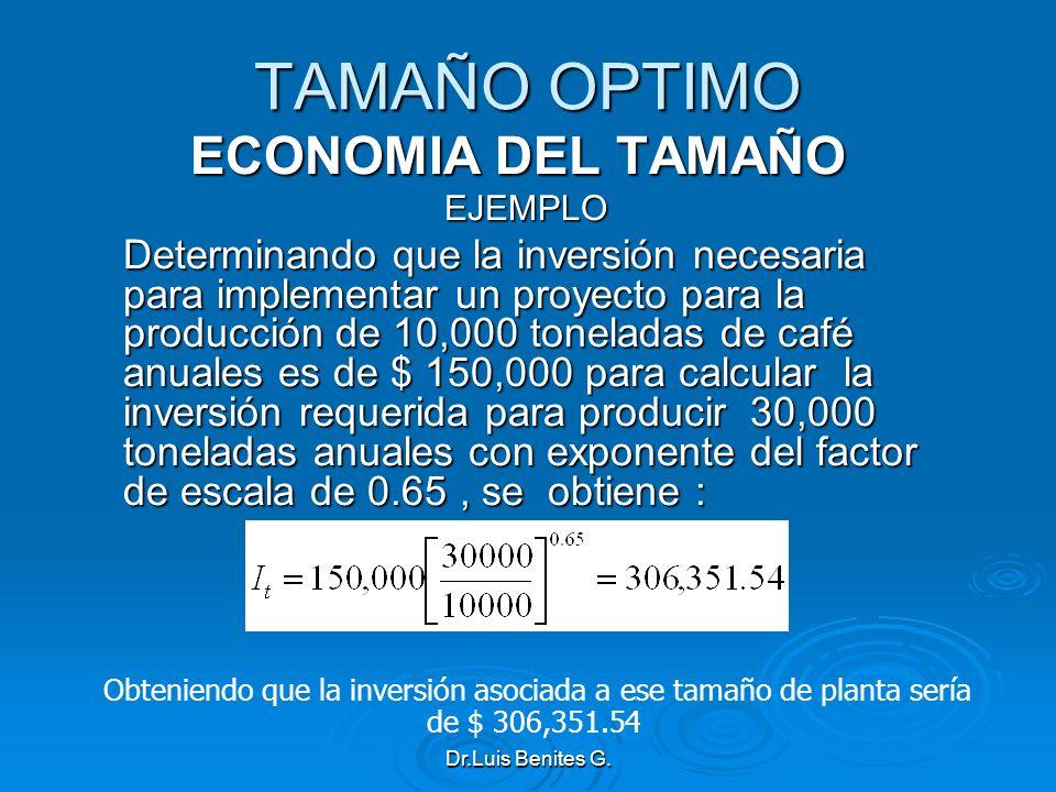 TAMAÑO OPTIMO ECONOMIA DEL TAMAÑO