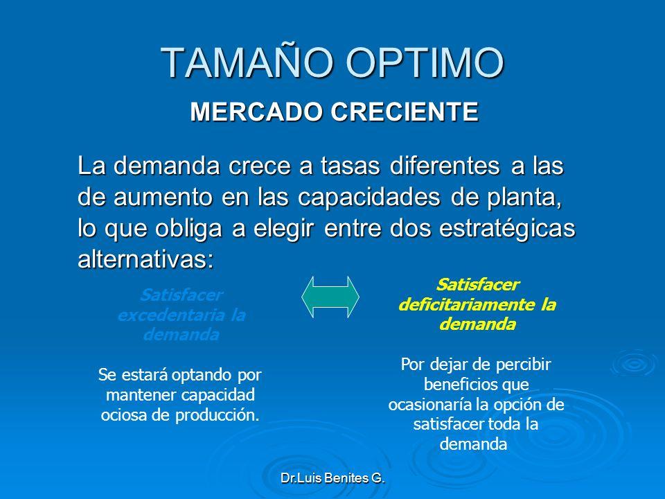 TAMAÑO OPTIMO MERCADO CRECIENTE