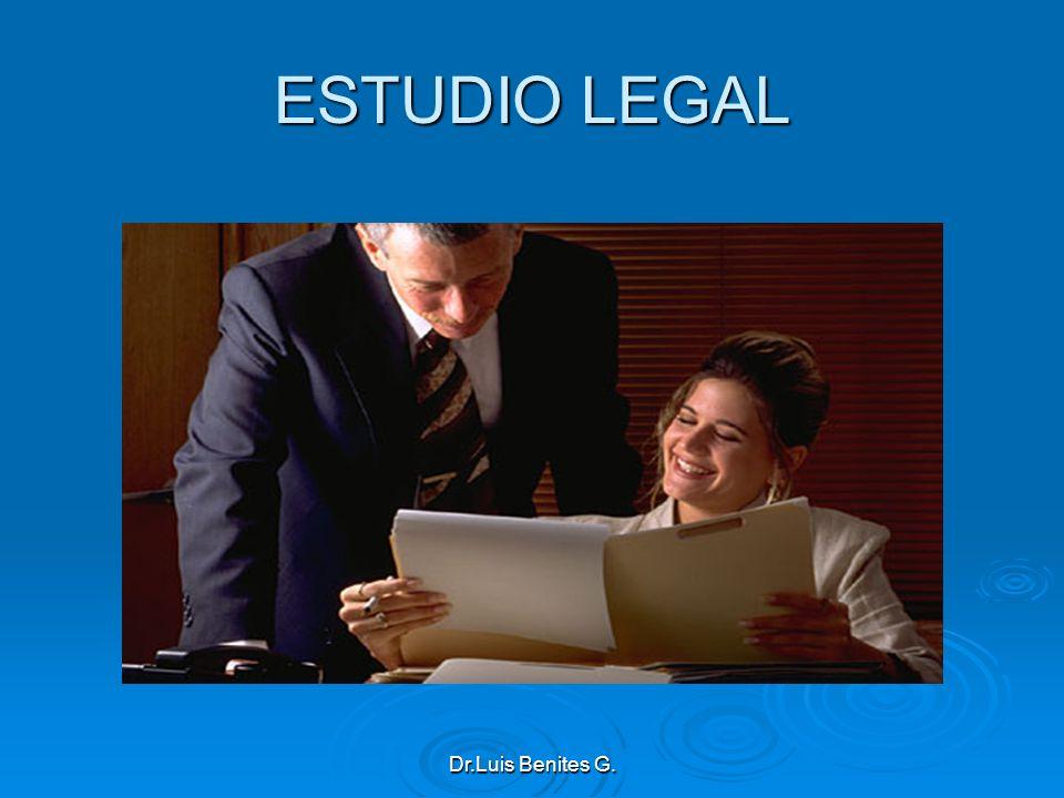 ESTUDIO LEGAL Dr.Luis Benites G.
