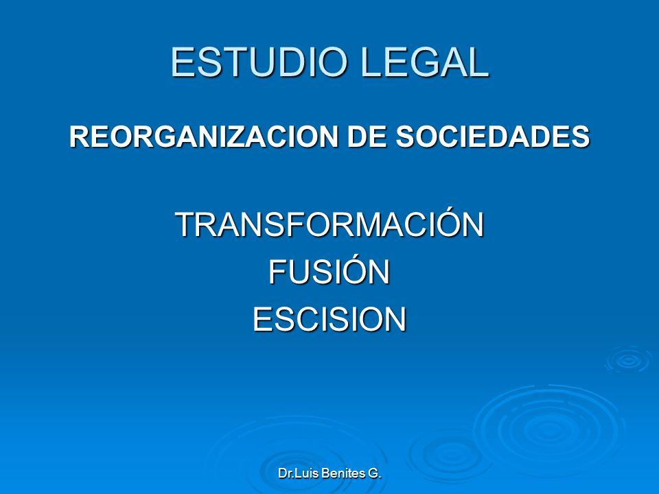 REORGANIZACION DE SOCIEDADES