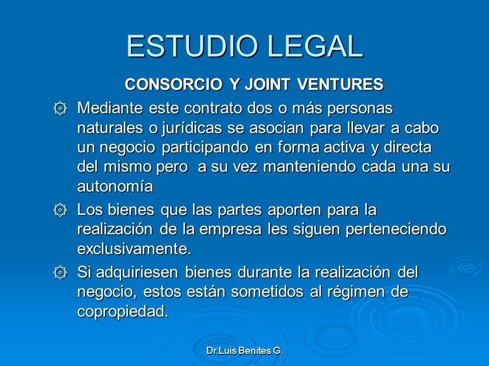 CONSORCIO Y JOINT VENTURES