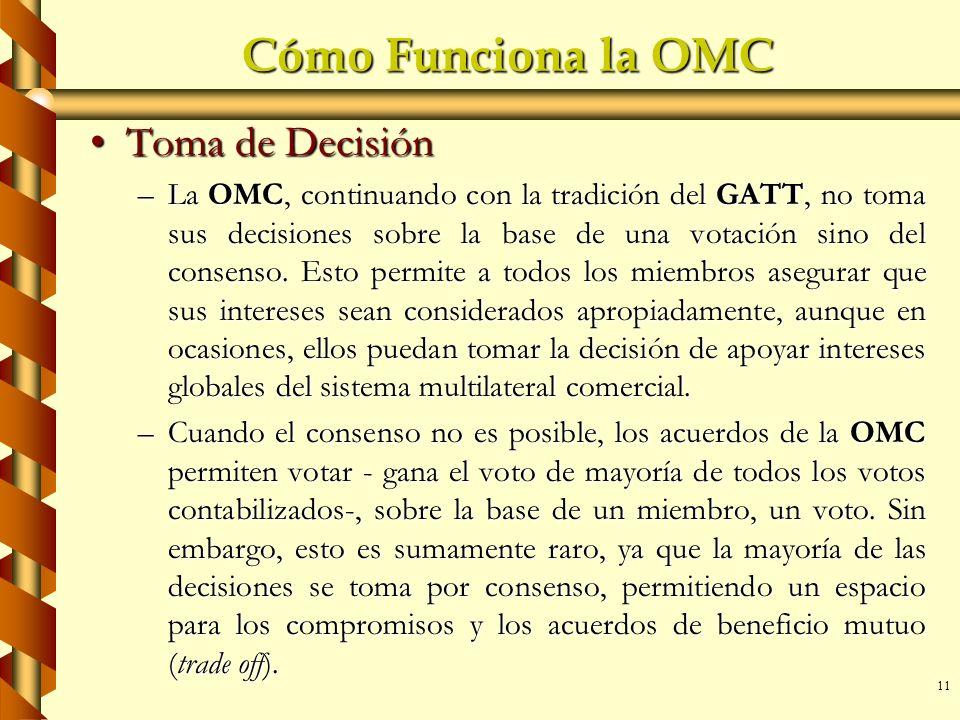 Cómo Funciona la OMC Toma de Decisión