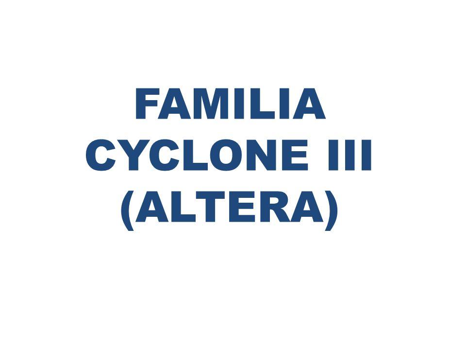 FAMILIA CYCLONE III (ALTERA)