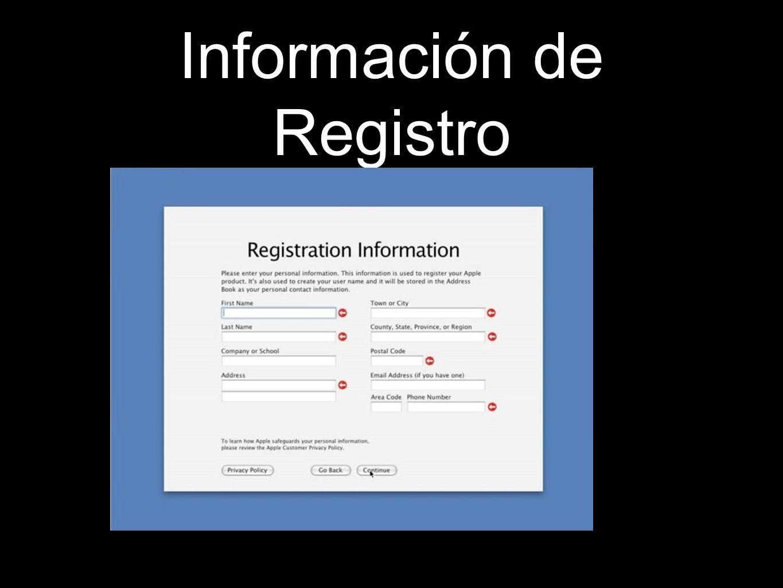 Información de Registro