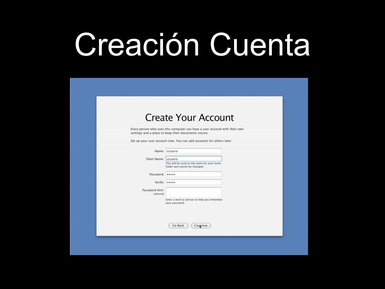 Creación Cuenta