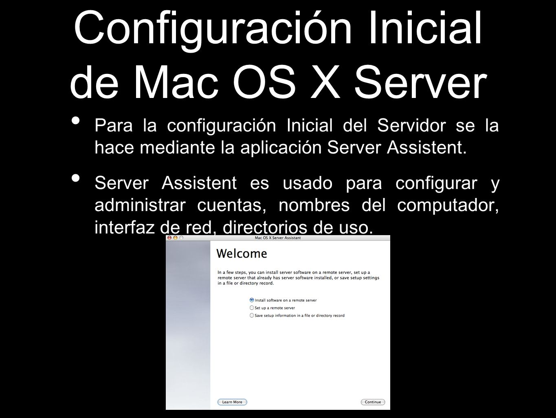 Configuración Inicial de Mac OS X Server