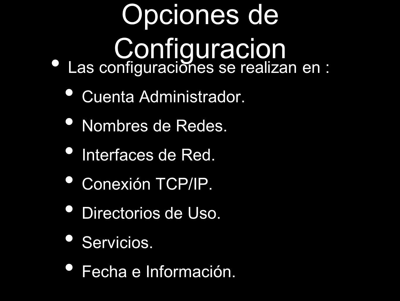 Opciones de Configuracion