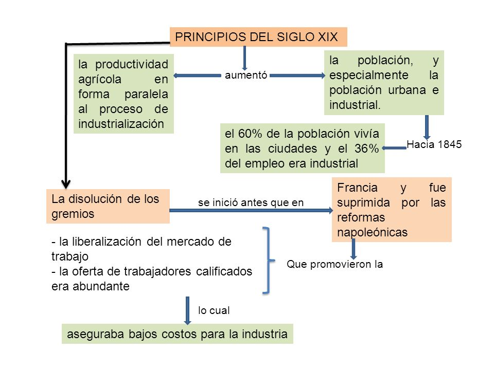 PRINCIPIOS DEL SIGLO XIX
