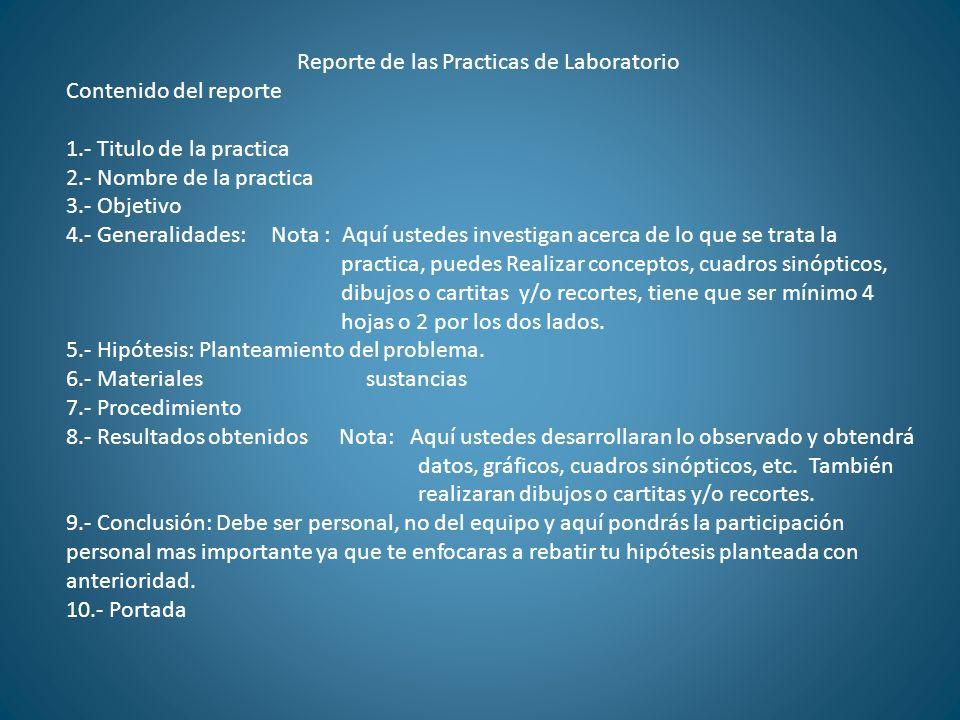 Reporte de las Practicas de Laboratorio