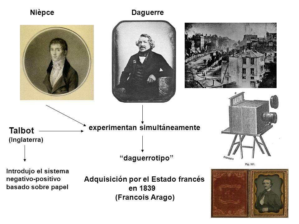 Talbot Nièpce Daguerre experimentan simultáneamente daguerrotipo