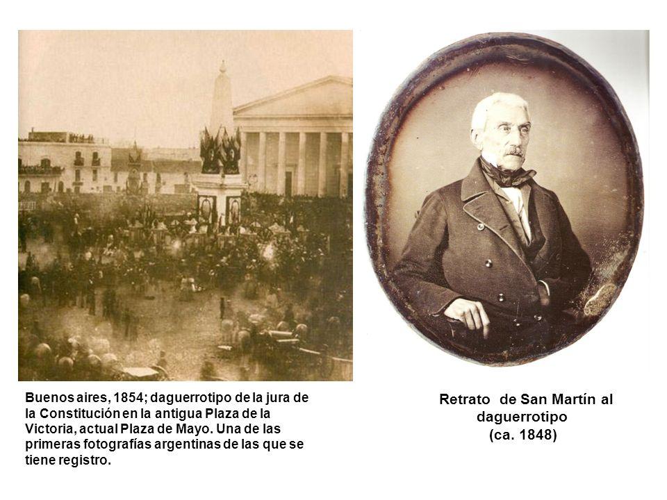 Retrato de San Martín al daguerrotipo (ca. 1848)