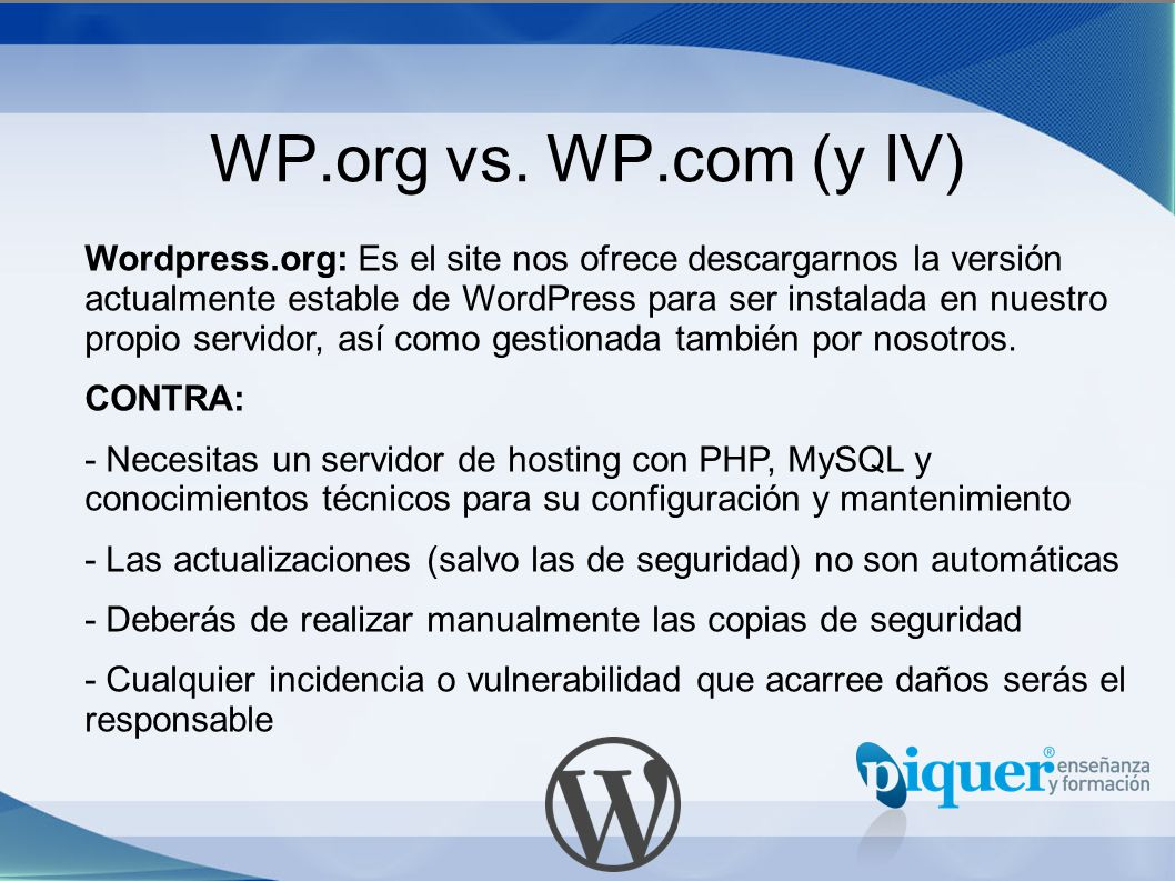WP.org vs. WP.com (y IV)